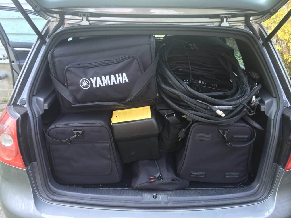 GTI filled to the brim with equipment