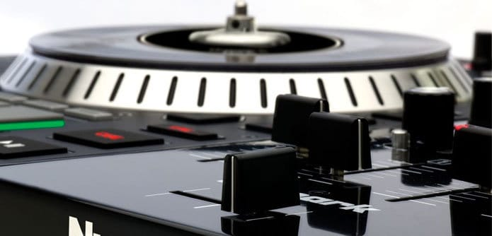 The Numark NS7ii. A controller with the vinyl touch.
